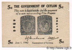 5 Cents CEYLAN  1942 P.42a SUP