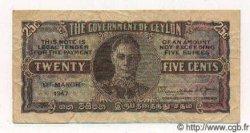 25 Cents CEYLAN  1947 P.44b TB à TTB