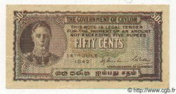 50 Cents CEYLAN  1942 P.45a SUP