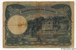 10 Rupees CEYLAN  1944 P.46 TB