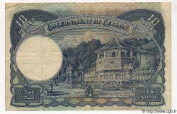 10 Rupees CEYLAN  1944 P.46 TTB