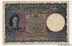 10 Rupees CEYLAN  1946 P.46 TB à TTB