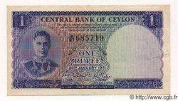 1 Rupee CEYLAN  1951 P.47 SUP