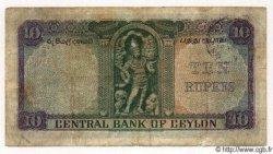 10 Rupees CEYLAN  1951 P.48 TB
