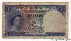 1 Rupee CEYLAN  1952 P.49 TB