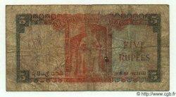5 Rupees CEYLAN  1954 P.54 B+