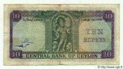 10 Rupees CEYLAN  1954 P.55 TTB