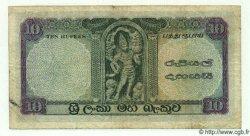 10 Rupees CEYLAN  1958 P.59a TTB