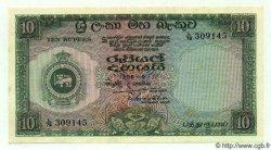 10 Rupees CEYLAN  1959 P.59a SPL