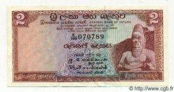 2 Rupees CEYLAN  1969 P.72a SUP+