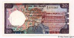 20 Rupees SRI LANKA  1990 P.078b SUP