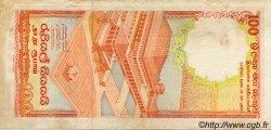 100 Rupees SRI LANKA  1989 P.099 TTB