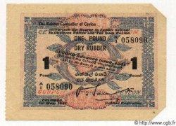 1 Pound CEYLAN  1941 P.- SPL