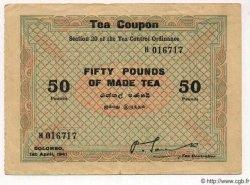 50 Pounds CEYLAN  1941 P.- SUP
