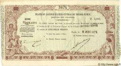 5000 Francs NOUVELLE CALÉDONIE  1874 P.- SUP