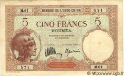 5 Francs NOUVELLE CALÉDONIE  1936 P.36b TTB