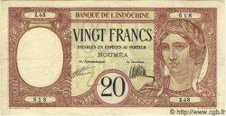 20 Francs NOUVELLE CALÉDONIE  1932 P.37a TTB