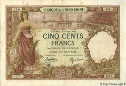 500 Francs NOUVELLE CALÉDONIE  1938 P.38 pr.TTB