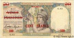 100 Francs NOUVELLE CALÉDONIE  1939 P.39