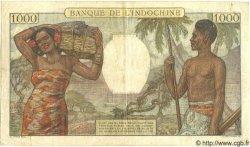 1000 Francs NOUVELLE CALÉDONIE  1958 P.43c TB+