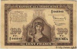 100 Francs NOUVELLE CALÉDONIE  1942 P.44 TTB