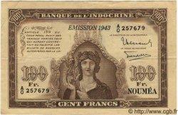 100 Francs NOUVELLE CALÉDONIE  1943 P.46a TTB+