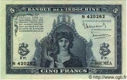 5 Francs NOUVELLE CALÉDONIE  1944 P.48 SPL