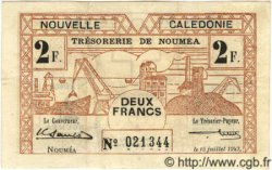 2 Francs NOUVELLE CALÉDONIE  1942 P.53 TTB+ à SUP