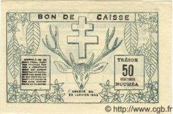 50 Centimes NOUVELLE CALÉDONIE  1943 P.54 SPL