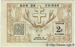 2 Francs NOUVELLE CALÉDONIE  1943 P.56b pr.SUP