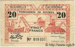 20 Francs NOUVELLE CALÉDONIE  1943 P.57a pr.TTB