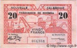 20 Francs NOUVELLE CALÉDONIE  1943 P.57b TTB+