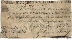 5 Pounds ANGLETERRE Bridgnorth 1813 G.0417B TB