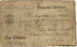 1 Guinée ANGLETERRE Gloucester 1809 G.1203B pr.TB