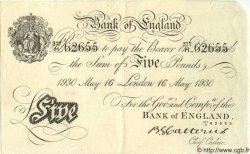5 Pounds ANGLETERRE  1930 P.328 SUP