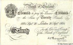 20 Pounds ANGLETERRE  1934 P.337a SUP