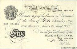 5 Pounds ANGLETERRE  1950 P.344 SPL+
