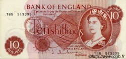 10 Shillings ANGLETERRE  1963 P.373b SUP