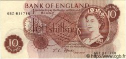 10 Shillings ANGLETERRE  1967 P.373c SUP