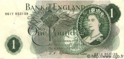 1 Pound ANGLETERRE  1967 P.374e SUP
