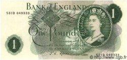 1 Pound ANGLETERRE  1967 P.374e pr.NEUF