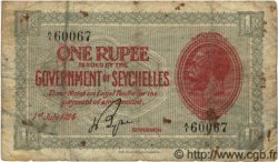 1 Rupee SEYCHELLES  1924 P.02c B