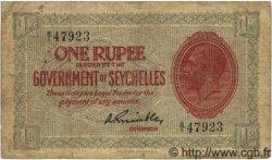 1 Rupee SEYCHELLES  1936 P.02f pr.TB