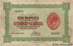 10 Rupees SEYCHELLES  1928 P.04a B à TB