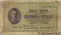 50 Cents SEYCHELLES  1951 P.06c B+ à TB