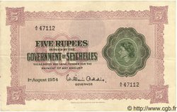 5 Rupees SEYCHELLES  1954 P.11a pr.SUP