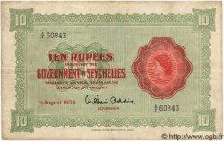 10 Rupees SEYCHELLES  1954 P.12a TTB
