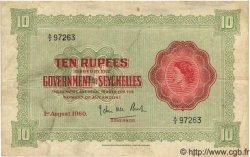 10 Rupees SEYCHELLES  1960 P.12b pr.TTB