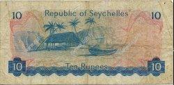 10 Rupees SEYCHELLES  1976 P.19a B+