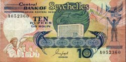 10 Rupees SEYCHELLES  1989 P.32 TB